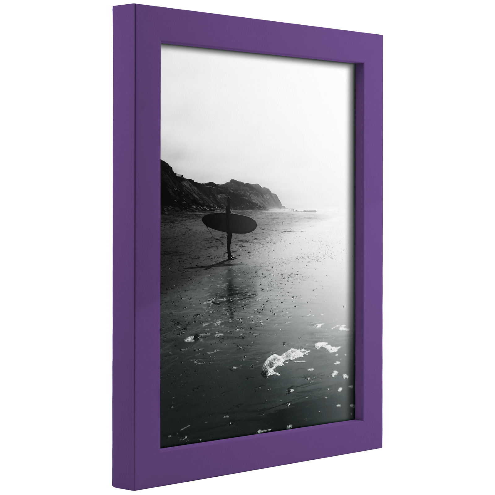 Craig Frames Confetti Modern Purple Solid Wood Picture