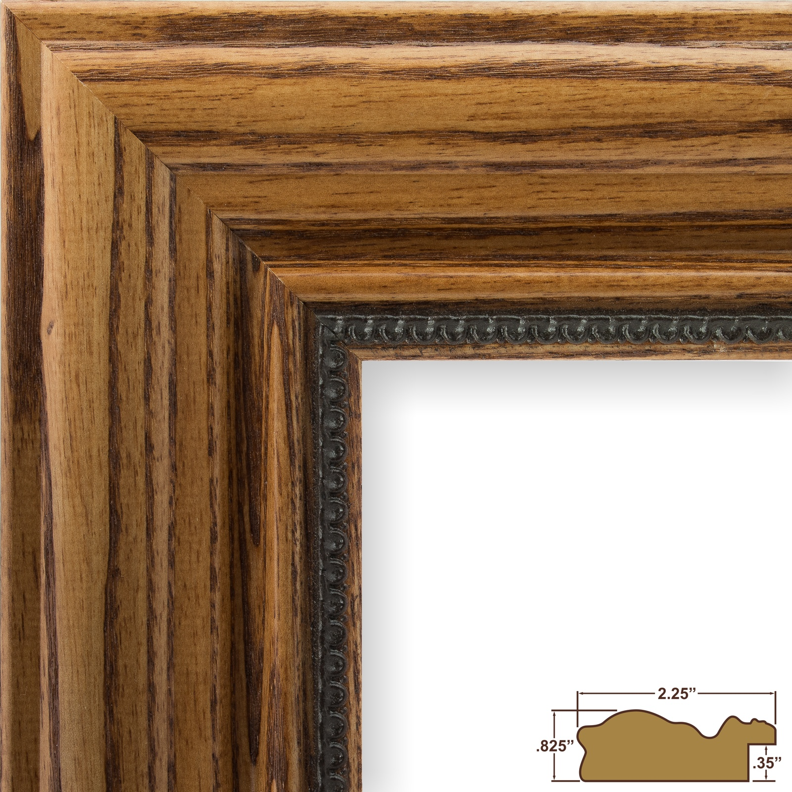 traditional ornate 2¼ honey brown hardwood picture frame this frame ...