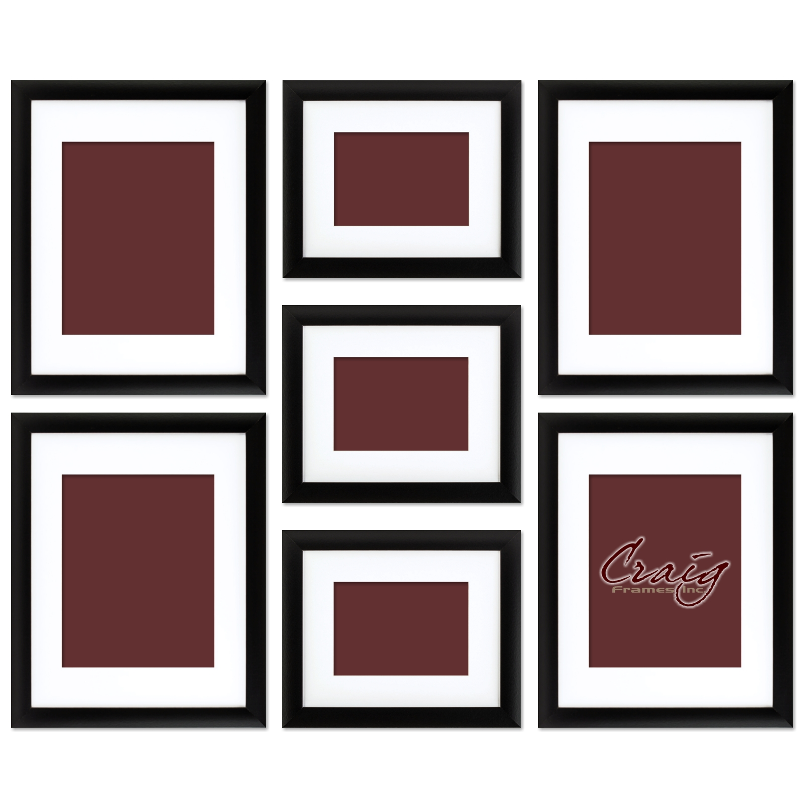 7 piece frame set multiple frame sizes 1 mdf composite view listing