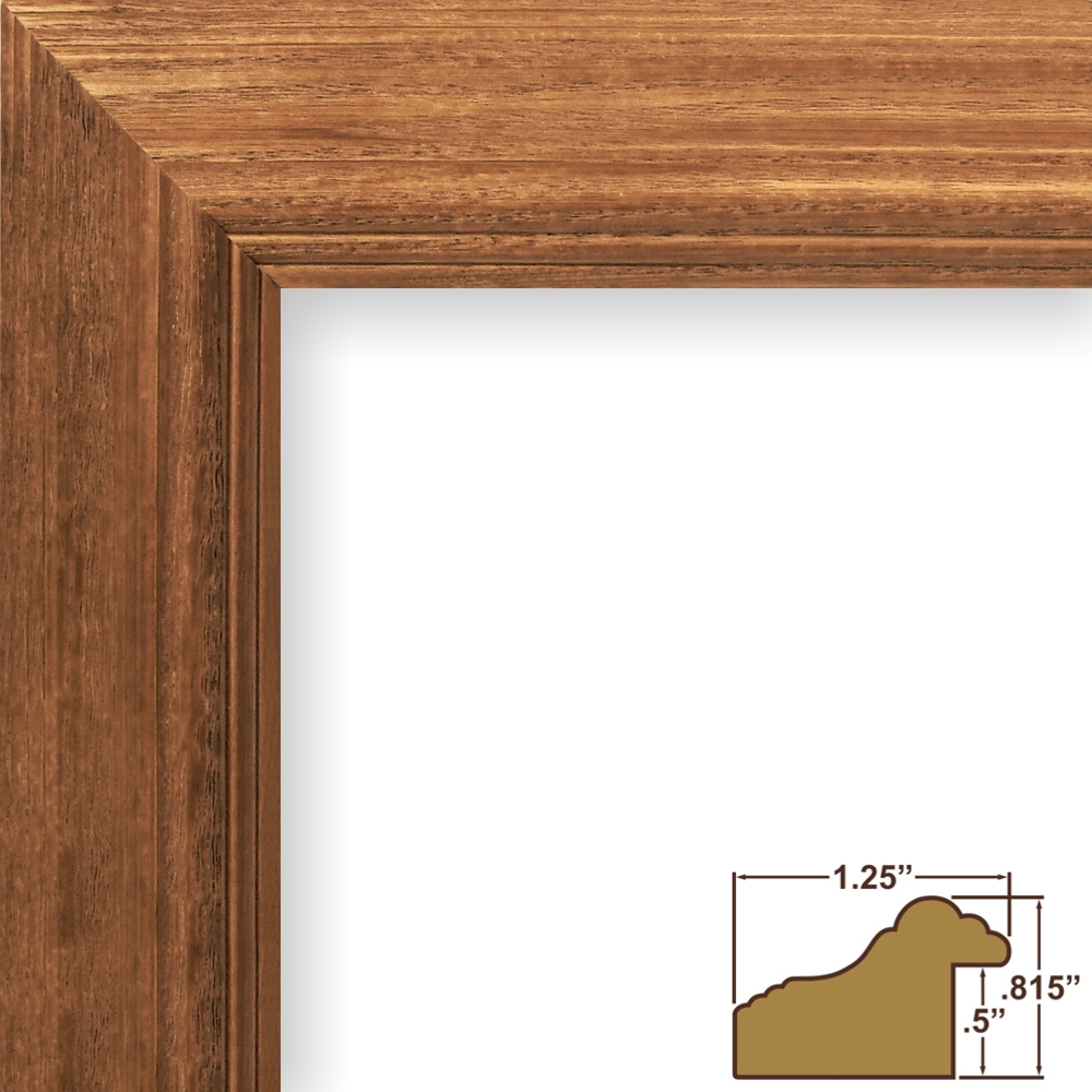Frames Wiltshire 521, 1.25u2033 Mission Oak Brown Wood Picture Frame ...