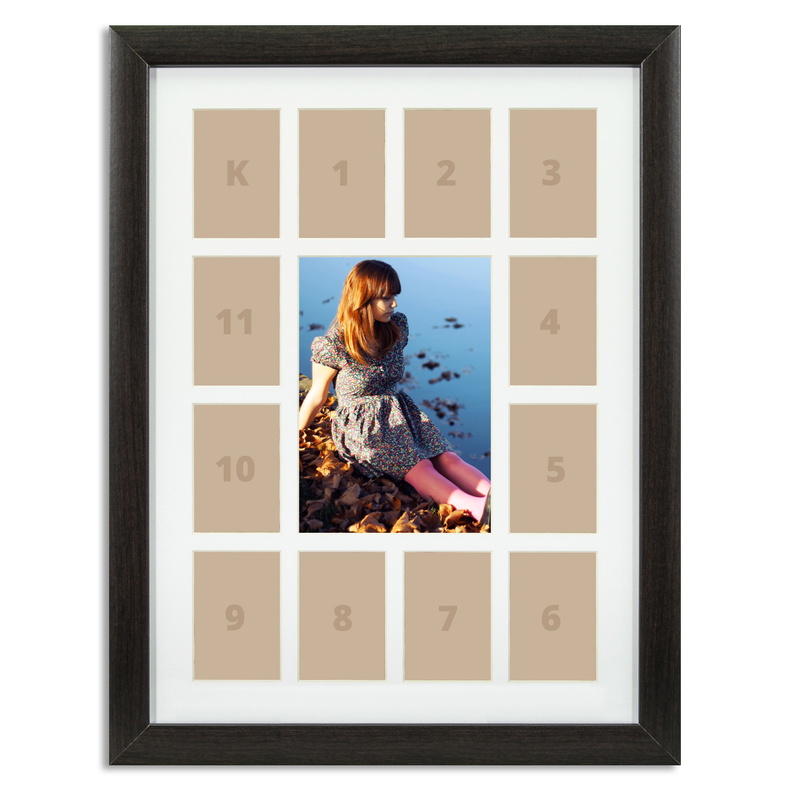 Craig Frames 12x16 Quot Dark Brown Picture Frame White