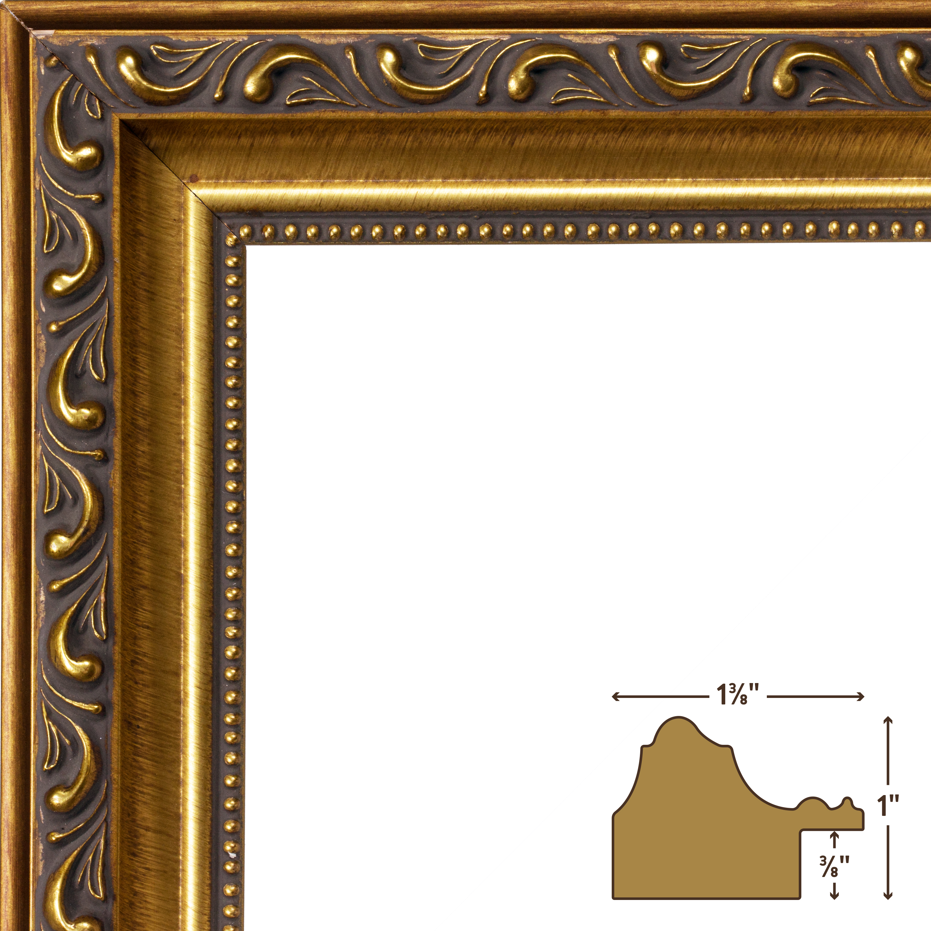 Craig Frames Ancien Ornate, Antique Gold Picture Frame