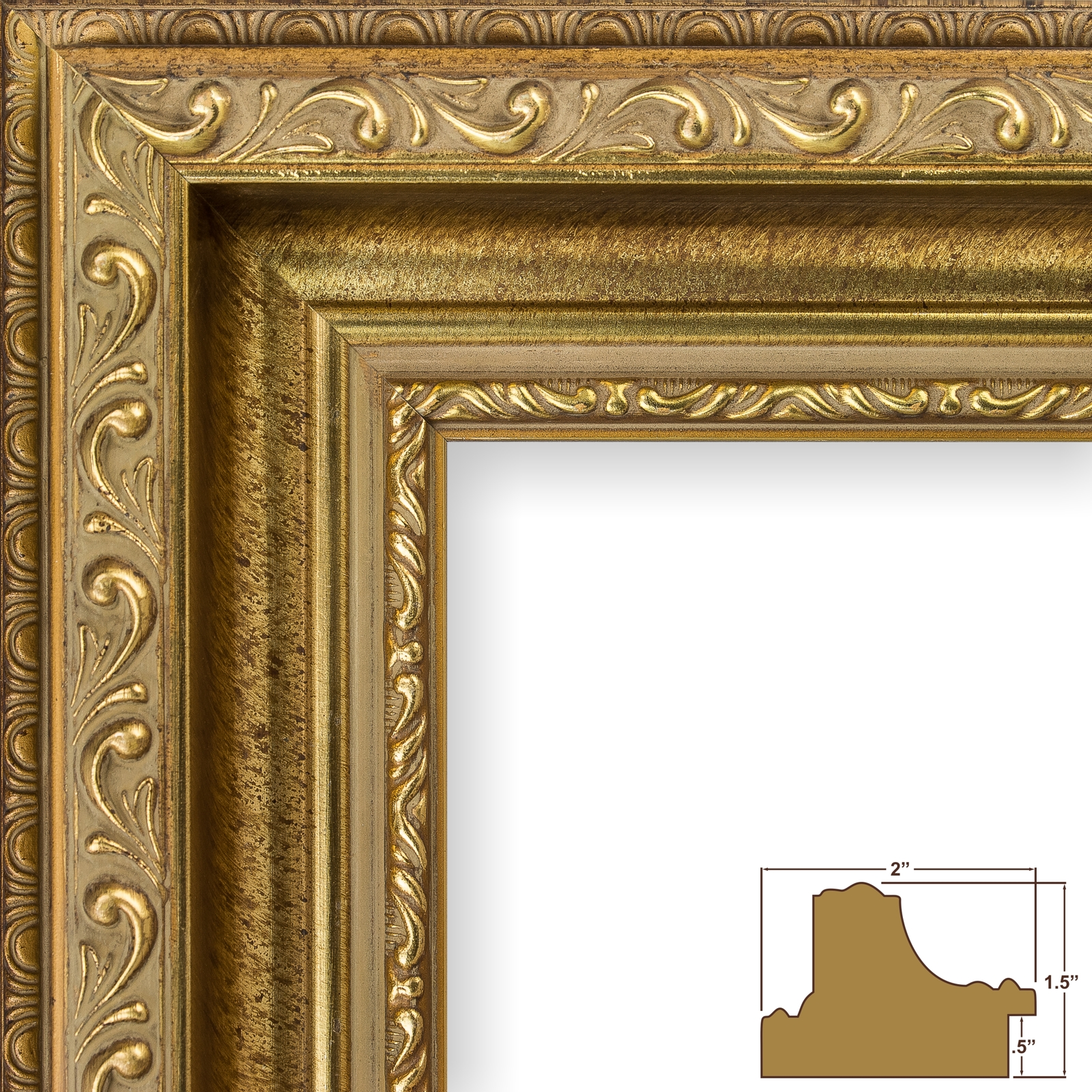 craig frames borromini 35 ornate gold and bronze picture frame ebay