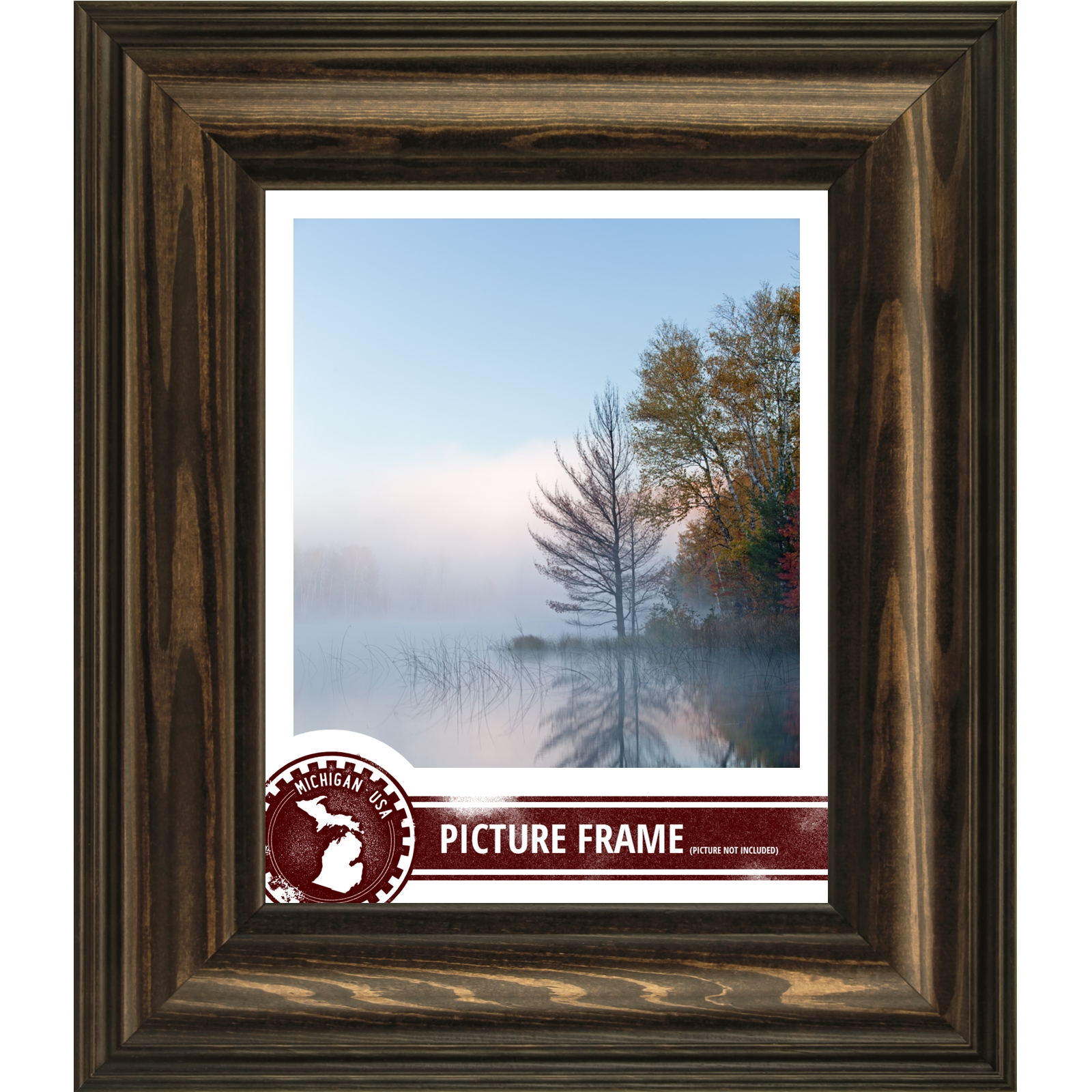 Frames Colonial, 2.5u0026quot; Walnut Brown Wood Picture Frame, Custom Sizes ...
