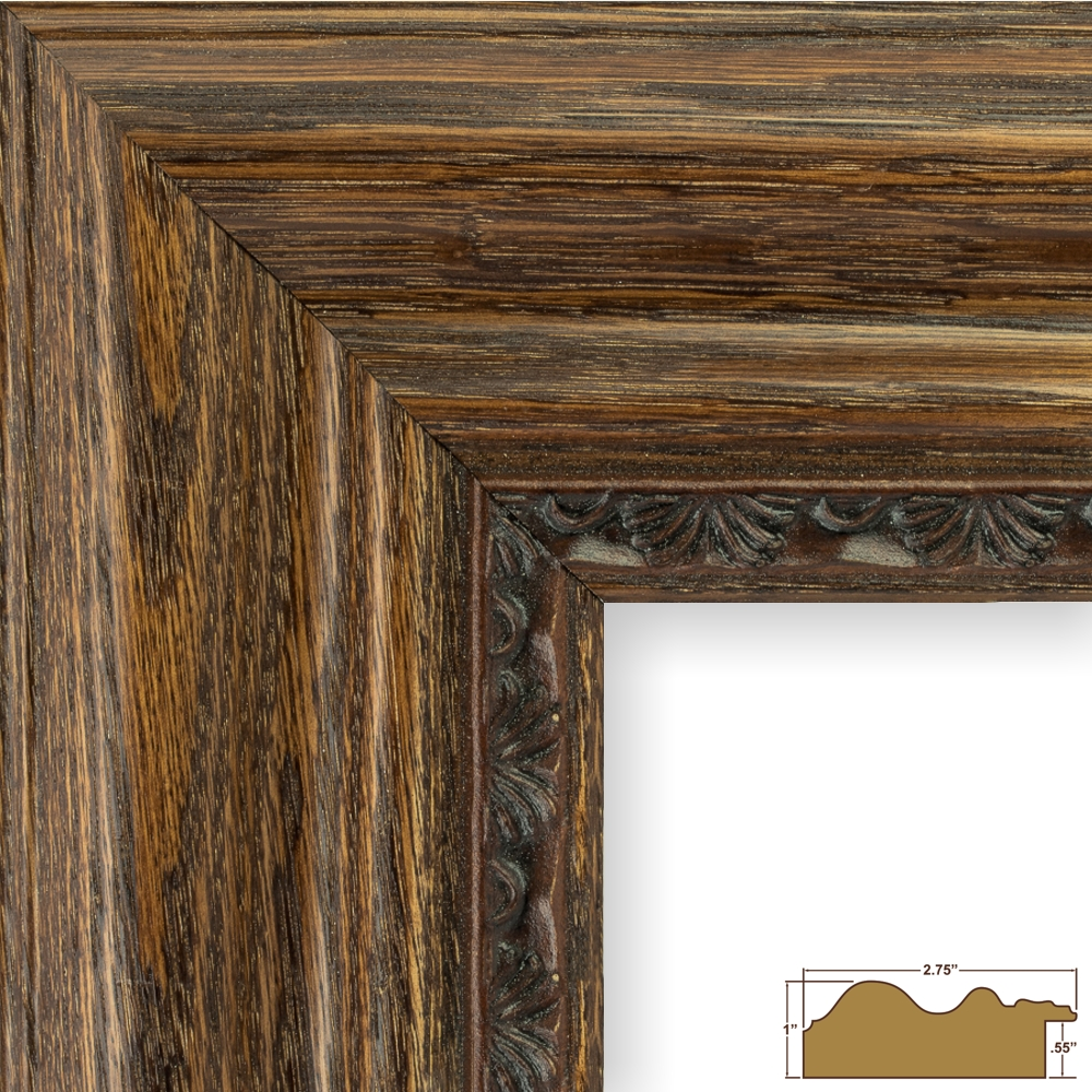 Craig Frames Colonial, Brown Oak Wood Picture Frame | eBay