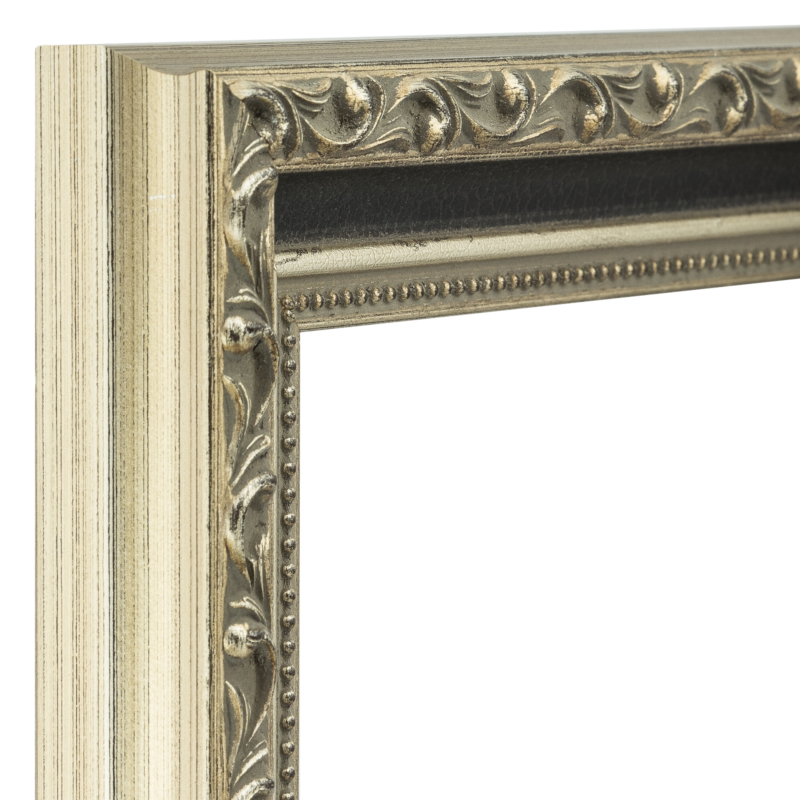 craig frames regence antique silver and black picture. Black Bedroom Furniture Sets. Home Design Ideas